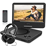 WONNIE New 10.5 Inch Portable DVD Player with 9.5 inch Swivel Screen, USB / SD Slot for Kids ( Black ) (Color: Black, Tamaño: 10.5 inch)