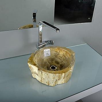 wohnfreuden fossiles waschbecken beige rot ca 41x36x14 cm dee503. Black Bedroom Furniture Sets. Home Design Ideas