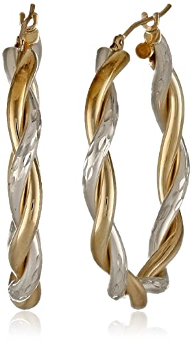Bonded-Sterling-Silver-and-14k-Two-Tone-Gold-Twist-Hoop-Earrings