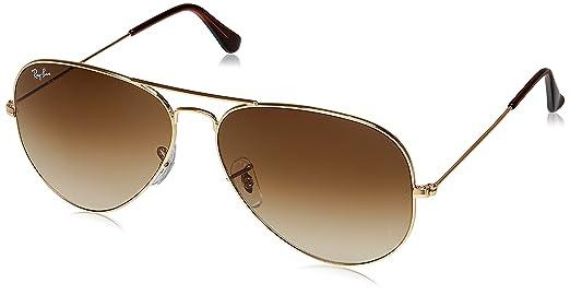 ray ban aviator 55  Ray-Ban Aviator Sunglasses (Golden) (RB3025 001/51 55 14): Amazon ...