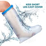 Waterproof Leg Cast Cover for Shower. Reusable, Thick Adjustable Protector Bag to Keep Casts and Bandages Dry. Full Watertight Protection for Broken or Injured Legs, Knees, Ankles, Fingers, Heels. (Tamaño: Kids Size - Below the Knee)
