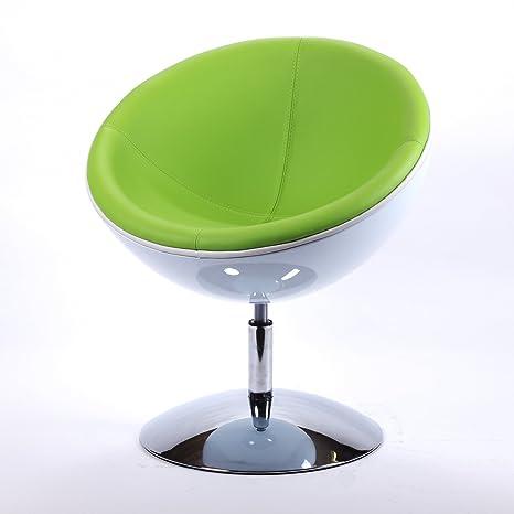 DESIGNER SCHALENSESSEL retro Möbel Lounge Cocktailsessel bequem gepolstert C13 weiß-grun