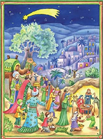 Holy Three Kings Nativity Scene Advent Calendar