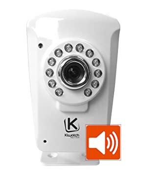 kiwatch cam ra ip de surveillance sans fil avec sir ne dissuasive int gr e d tecteur de. Black Bedroom Furniture Sets. Home Design Ideas