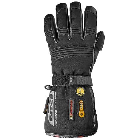 IXS beheizbarer gants hiver homme de ville en textile/cuir-noir