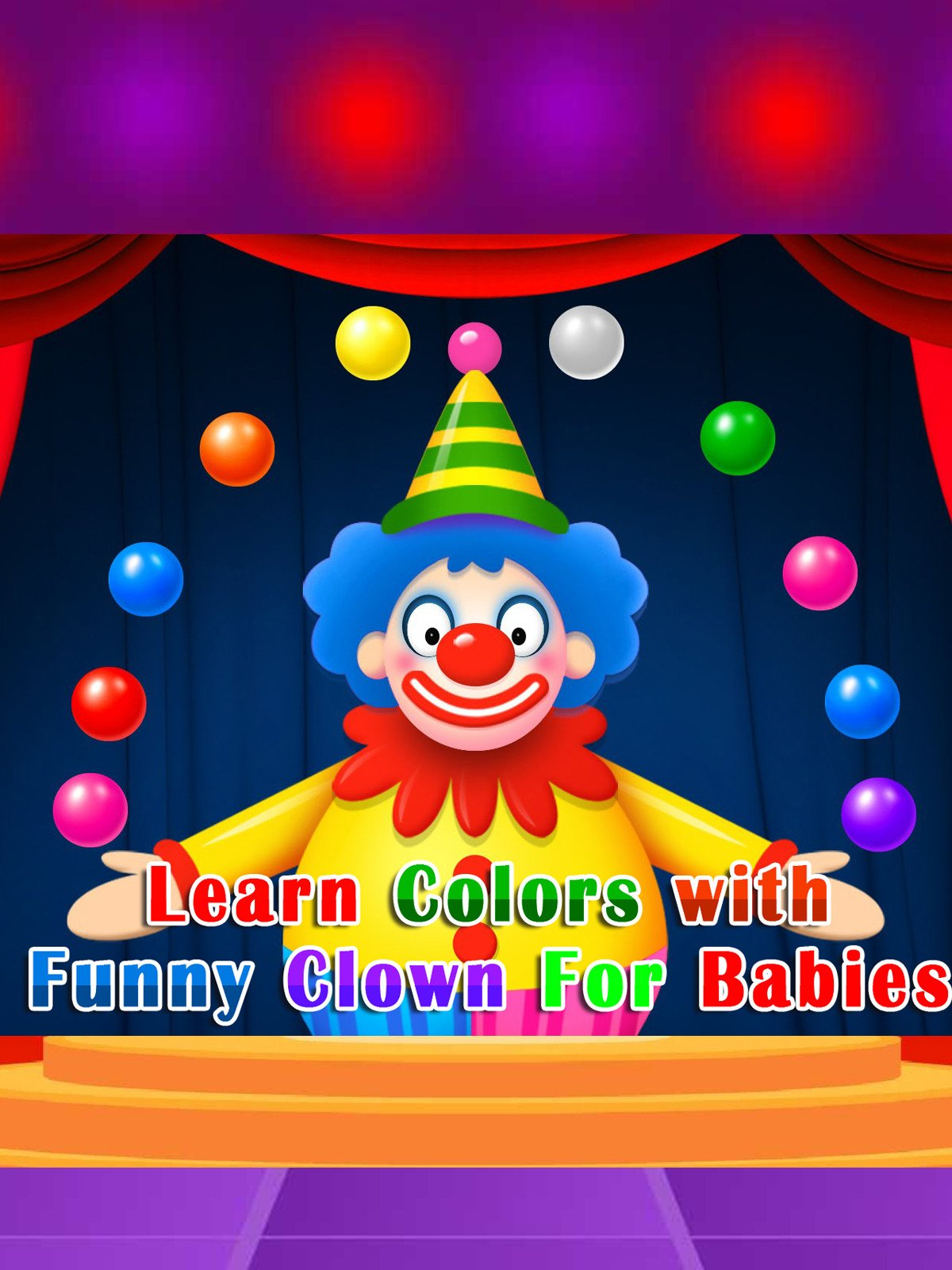 Learn Colors with Funny Clown For Babies