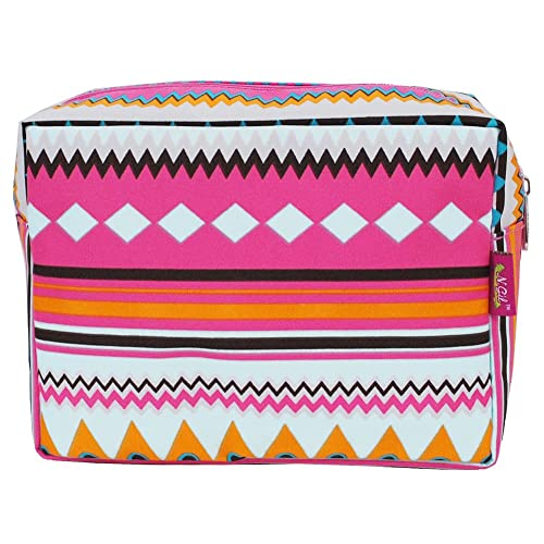 Multi-color Aztec Tribal Hipster Print Large Cosmetic Travel Pouch
