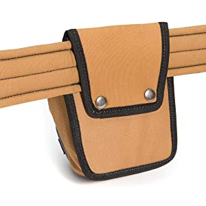Dickies Work Gear 57005 Grey/Tan Tool Pouch with Security Zipper Pocket (Color: Tan)