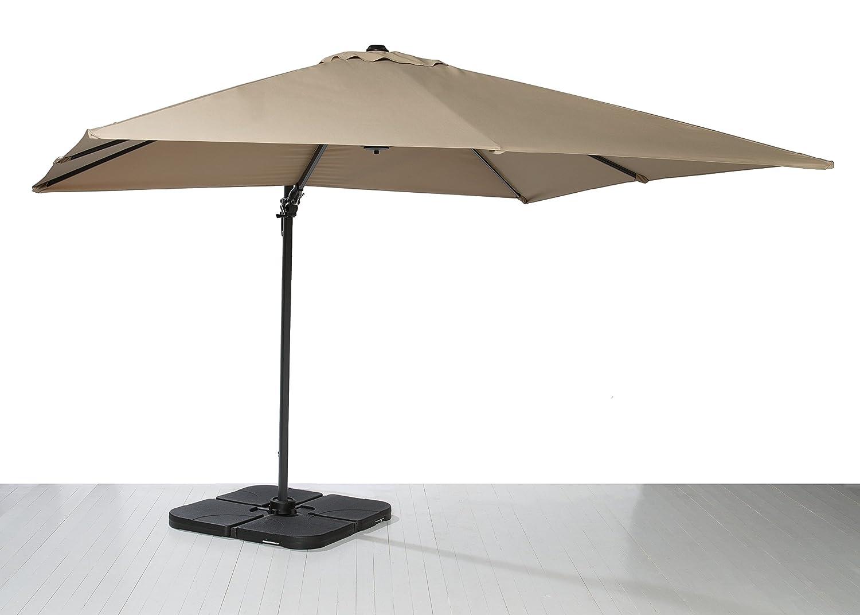 Ampelschirm Sonnenschirm Kurbelschirm Terrassenschirm braun 300×300 cm jetzt bestellen