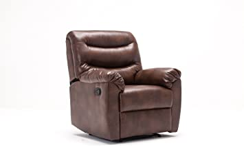 Birlea Furniture Regency Faux-Leather Recliner Chair, Bronze Brown