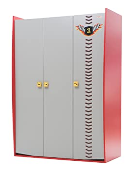 New Joy Vento Red V8 3-Door Children Wardrobe, 198 x 139 x 69 cm