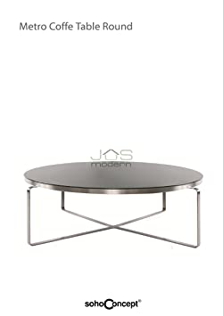 Metro Coffee Table Round Glass Coffee Table Soho Concept Table