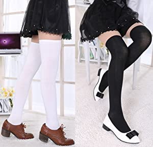 37ac42a18 Chalier 3 Pairs Womens Long Socks Over Knee Stockings