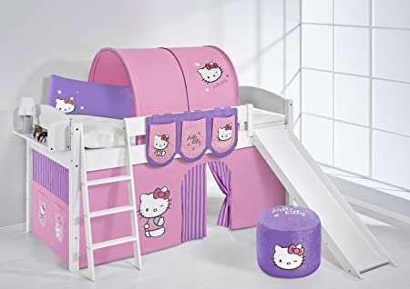 Lilo Kids Ida 4105KWR Hello Kitty Hello Kitty Large Children's Bed Wood–Purple, 208x 220x 113cm