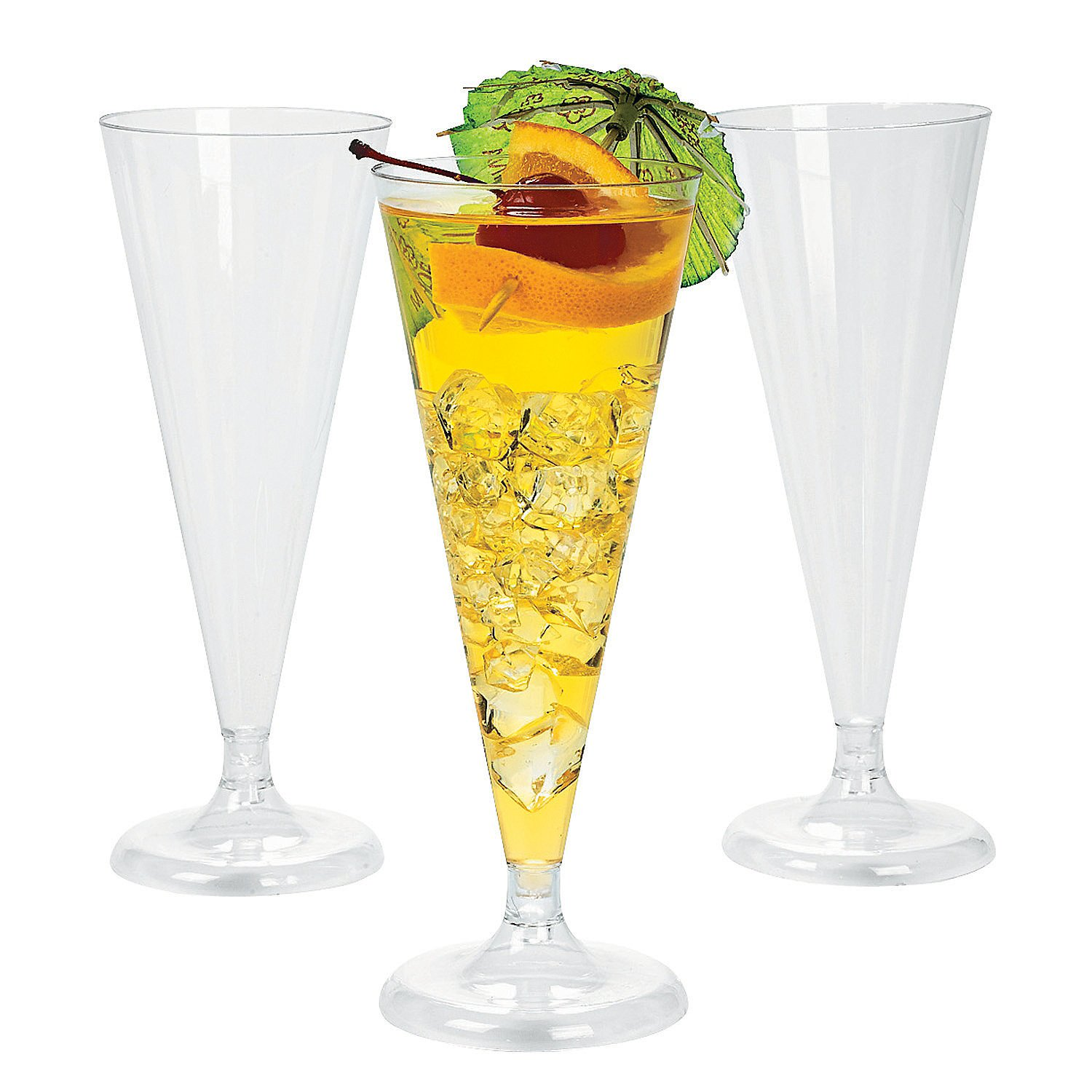25 clear plastic party champagne wedding toasting flutes glasses drinkware fun ebay - Fluted wine glasses ...