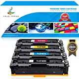 True Image 4Pack 201X for HP 201A CF400A 201X CF400X Compatible Ink HP MFP M277dw M277n M277c6 M277 Toner Cartridge HP Color Laserjet Pro MFP M277dw M252dw M252n M252 Toner CF400X CF401X CF402X CF403X (Color: Black Cyan Yellow Magenta)
