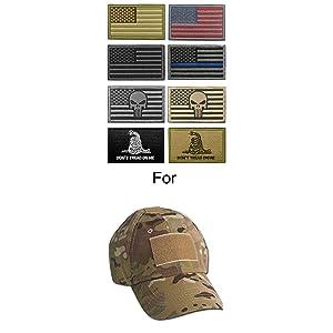 WZT Bundle 8 pieces american flag Tactical Military Morale Patch Set (Color: 2)