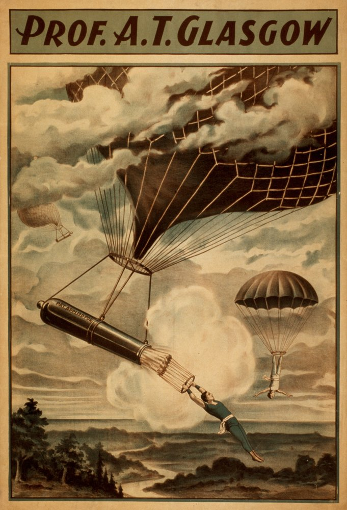 Glasgow Hot Air Balloon Circus Theatre Poster (9x12 Art Print, Wall Decor Travel Poster) 0