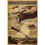 Glasgow Hot Air Balloon Circus Theatre Poster (9x12 Art Print, Wall Decor Travel Poster)