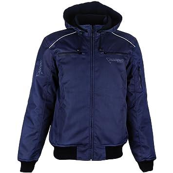 Modeka rAID veste en tissu-bleu