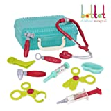 Battat - Deluxe Doctor Kit - Pretend Play Doctor Set for Kids 3 Years + (11-Pcs) (Color: Blue)