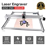 DIY CNC Laser Engraver Kits, Yofuly 5500mW Wood Carving Engraving Cutting Machine Desktop Printer Logo Picture Marking, 40x50cm, 2 Axis (5500mW)