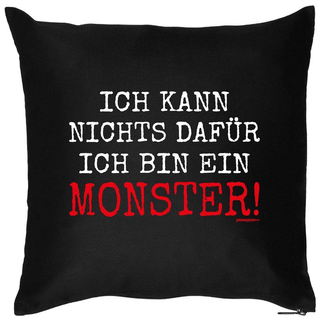 Kissen Sofakissen mit Aufdruck – Ich bin ein Monster – Horror Zombie Halloween Geschenk – Wendekissen online bestellen