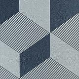 ルノン 壁紙40m モダン 幾何学 ブルー/グレー 空気を洗う壁紙 RH-9172