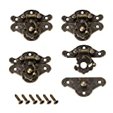 uxcell 4 Sets Wood Case Chest Box Rectangle Clasp Closure Hasp Latches Bronze Tone 38 x 30mm (Color: Bronze, Tamaño: 38mm x 30mm,4 pcs)