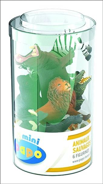 Papo - 33020 - Figurine - Animaux - 6 Animaux Mini Sauvages