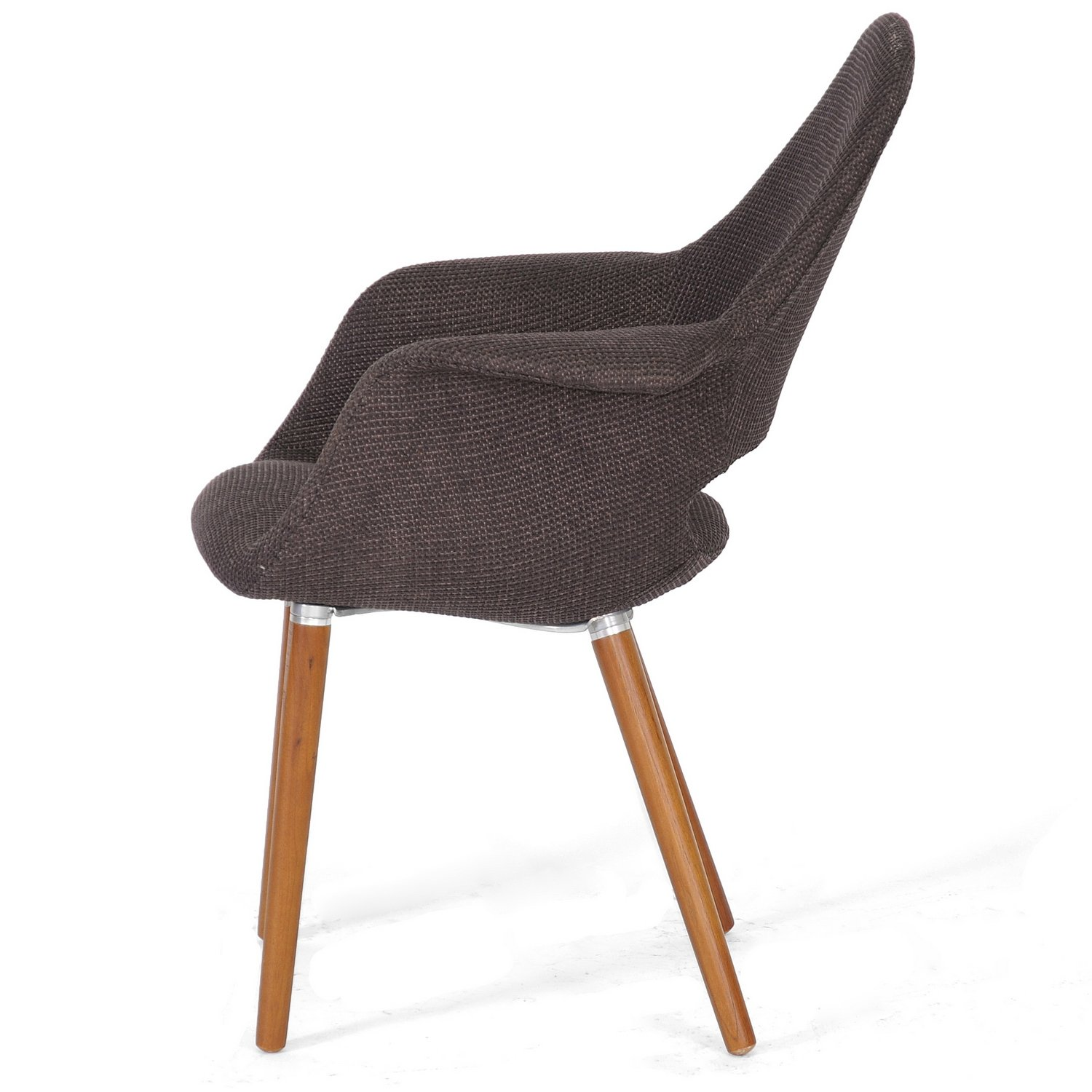 Baxton studio forza fabric mid century modern arm chair for Modern arm chair