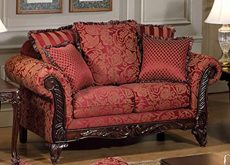 Chelsea Home Furniture Serta Tia Love Seat, Base Upholstered in Momuntum Magenta