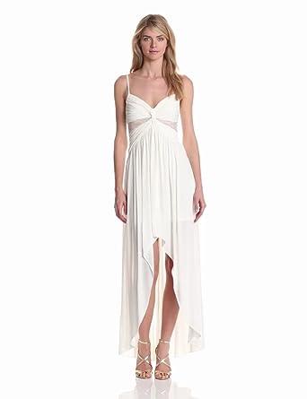 maxandcleo Women's Hi Low Jersey Dress, Marshmallow, 2