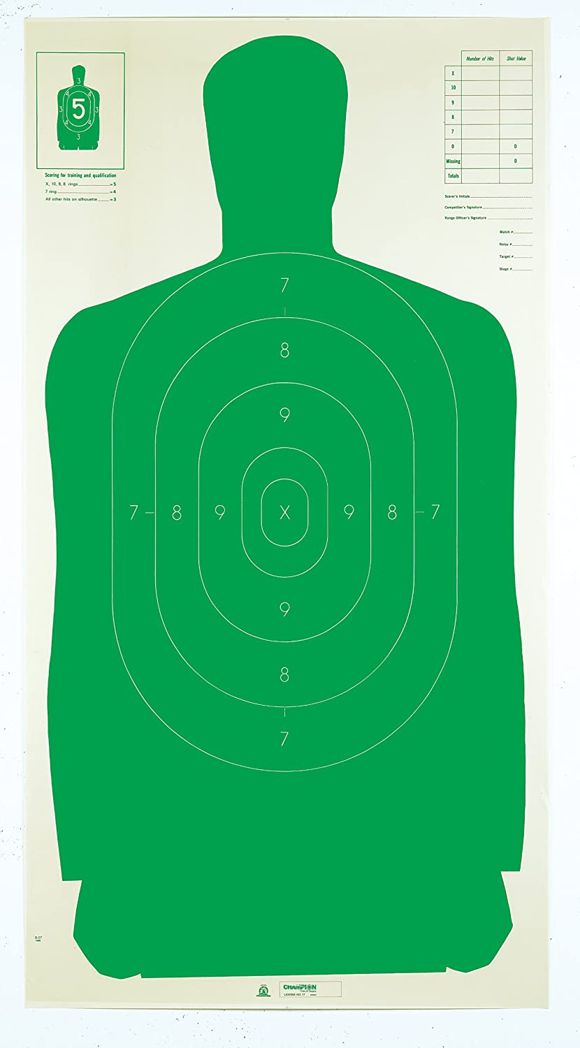 B 21 Police Shooting Targets Target  Pack of 100
