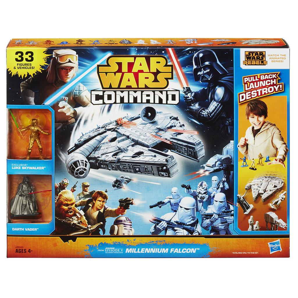 Star Wars Toy Game : Amazon star wars command millennium falcon set toys
