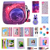 Bsuuy 14 in 1 Instax Mini 9 Camera Accessories Set for Fujifilm Instax Mini 9/ Mini 8/ Mini 8+ Camera, Includes Mini 9 Case,Albums,Six Color Filters,Rainbow Shoulder Strap ETC (Fantasy Starry Sky) (Color: Fantasy Starry Sky)