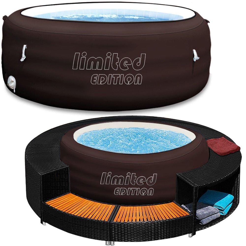 whirlpool aufblasbar mit umrandung aufblasbarer whirlpool. Black Bedroom Furniture Sets. Home Design Ideas