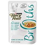 Purina Fancy Feast Broth Wet Cat Food Complement, Broths Classic With Chicken & Vegetables - (16) 1.4 oz. Pouches
