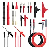 Proster 24pcs Multimeter Test Lead Kit Electrical Multitester Leads Automotive Multimeter Probe Alligator Clips Replaceable Volt Clamp Meter Leads Electronic Test Leads (Color: 24 PCS)
