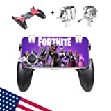 Mobile Controller/Mobile Game Controller compatible with Fortnite iPhone/Android, Mobile Controller 3 in 1 compatible with Fortnite - pubg Mobile triggers/Portable Gamepad/Mobile Joystick (BB045)    (Color: Black, Tamaño: One Size)