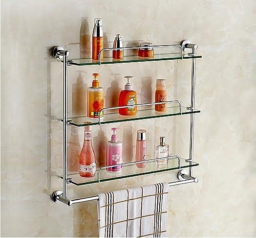 Scaffale per bagno / mensola in vetro, Durevole ( dimensioni : 60cm )