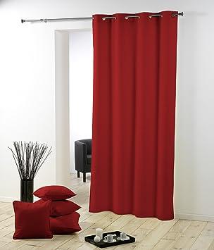 rideau oeillets 140x260 140x260 essentiel rouge cuisine maison m365. Black Bedroom Furniture Sets. Home Design Ideas