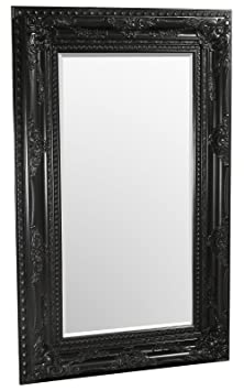 Febland Edward Wall Mirror, Black, Large