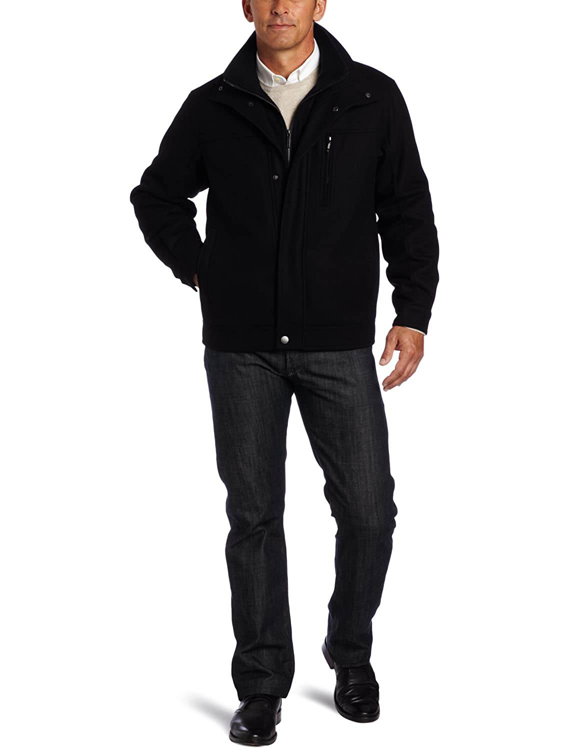 London Fog Men's Antrim Wool Hipster, Black, XX-Large 	$59.98