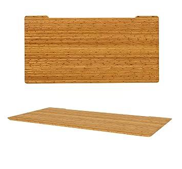 Escritorio de bambú carbonizado | respetuoso con el medio ambiente | hermosa adición a la casa oficina o espacio de trabajo | chapa de no, genuino bambú, 1600 x 800mm Rectangle
