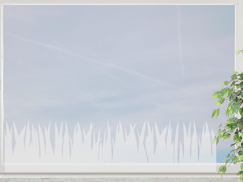 wandfabrik – Fenstersticker 3 Meter Gras Bordüre + 5 Blümchen – frosty – 798 – (Xt) jetzt bestellen