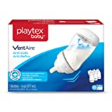 Playtex Baby VentAire Bottle, Helps Prevent Colic and Reflux, 6 Ounce Bottles, 3 Count (Color: Max Dot, Tamaño: 6 Ounce)