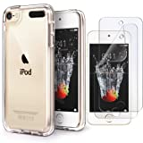 iPod Touch 7 Case Clear,IDWELL Touch 6 Touch 5 Case with 2 Screen Protectors, Clear Slim Soft TPU Bumper Hard Cover for iPod Touch 5/6/7th Generation (Latest Model,2019 Released), HD Clear (Color: Clear)