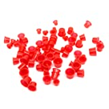 ITATOO 300pcs Tattoo Ink Caps for Tattooing Mixed Tattoo Ink Cups Disposable Pigment Cups #9 Small #13 Medium #16 Large, Red (Color: Red)