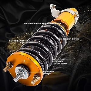 EG6 EH2 2001 Suspension Spring Shock Strut Kit Adjustable Height ...